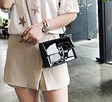 Модна жіноча лакова міні сумочка, фото 9
