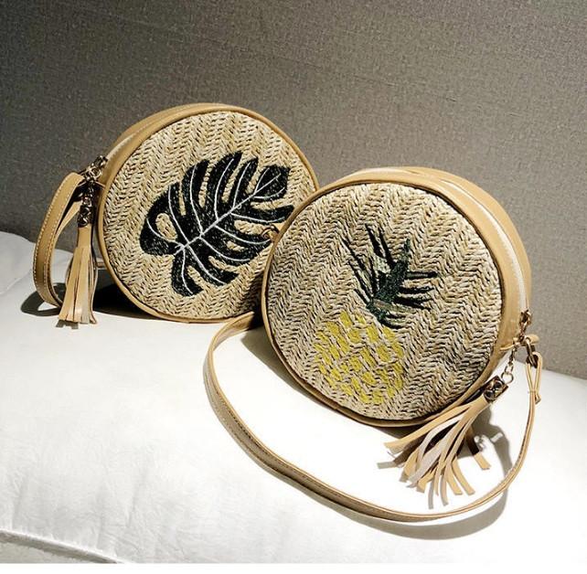 Модна жіноча сумочка солом'яний
