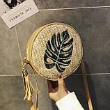 Модна жіноча сумочка солом'яний, фото 2