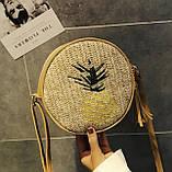 Модна жіноча сумочка солом'яний, фото 3