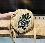 Модна жіноча сумочка солом'яний, фото 4
