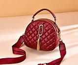 Женская мини сумочка клатч стеганная, маленькая сумка для девушки кожаная модная и стильная, фото 2