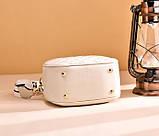 Женская мини сумочка клатч стеганная, маленькая сумка для девушки кожаная модная и стильная, фото 4