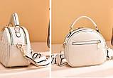 Женская мини сумочка клатч стеганная, маленькая сумка для девушки кожаная модная и стильная, фото 5