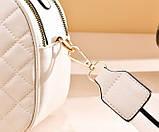 Женская мини сумочка клатч стеганная, маленькая сумка для девушки кожаная модная и стильная, фото 7