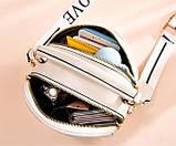 Женская мини сумочка клатч стеганная, маленькая сумка для девушки кожаная модная и стильная, фото 8