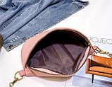 Модна бананка сумка слінг жіноча на пояс, поясна маленька сумочка жіноча сумка-бананка еко шкіра стьобаний, фото 8