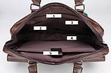 Стильный мужской деловой портфель для документов формат А4 мужская сумка для планшета ноутбука, фото 2