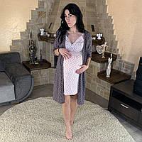 """Комплект халат с ночной для будущих мам  """"Angel"""" р. 48-52, фото 1"""