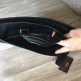 Кожаная мужская сумка офисная + клатч, фото 6