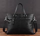 Кожаная мужская сумка офисная + клатч, фото 7