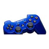 Джойстик контроллер геймпад для Sony PlayStation 3 DualShock Беспроводной ps3 bluetooth пс3 синий ( Реплика ), фото 5
