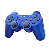 Джойстик контроллер геймпад для Sony PlayStation 3 DualShock Беспроводной ps3 bluetooth пс3 синий ( Реплика ), фото 2