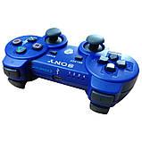 Джойстик контроллер геймпад для Sony PlayStation 3 DualShock Беспроводной ps3 bluetooth пс3 синий ( Реплика ), фото 4