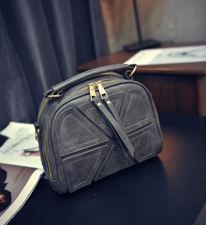 Качественная женская мини сумка Серый