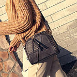 Качественная женская мини сумка Серый, фото 2