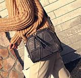 Качественная женская мини сумка Серый, фото 3