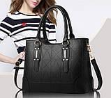 Набор женская сумка + мини сумочка клатч, фото 5
