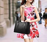 Набор женская сумка + мини сумочка клатч, фото 7