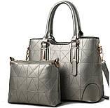 Набор женская сумка + мини сумочка клатч, фото 9