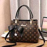 Жіноча сумка в стилі Луї Вітон Чорний, фото 2