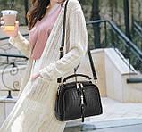 Женская мини сумочка под рептилию, стильная и модная сумка через плечо змеиная, фото 2