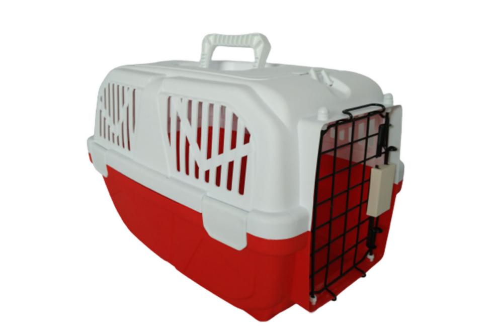 Переноска AnimAll Р 1095 для котов и собак 52х35х33 см красная
