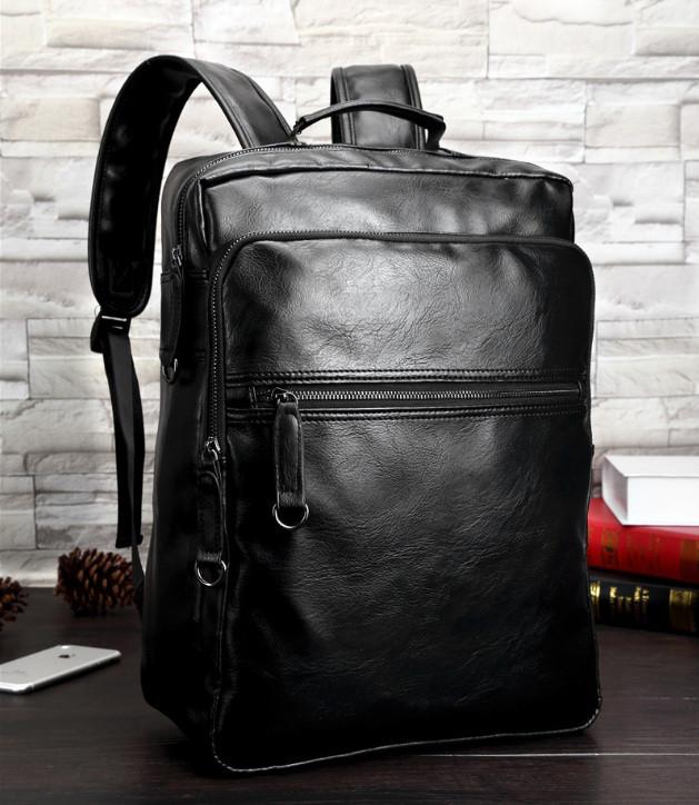 Повсякденний чоловічий міський рюкзак + візитниця в подарунок