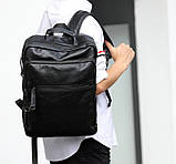 Повсякденний чоловічий міський рюкзак + візитниця в подарунок, фото 5