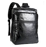 Повсякденний чоловічий міський рюкзак + візитниця в подарунок, фото 7
