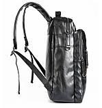 Повсякденний чоловічий міський рюкзак + візитниця в подарунок, фото 9