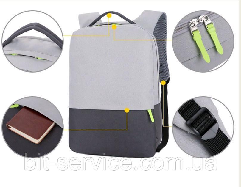 """Рюкзак для ноутбука 15,6"""" Taoleqi Jq165 (Водонепроникна)"""