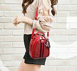 Стильний жіночий рюкзак сумочка, фото 8