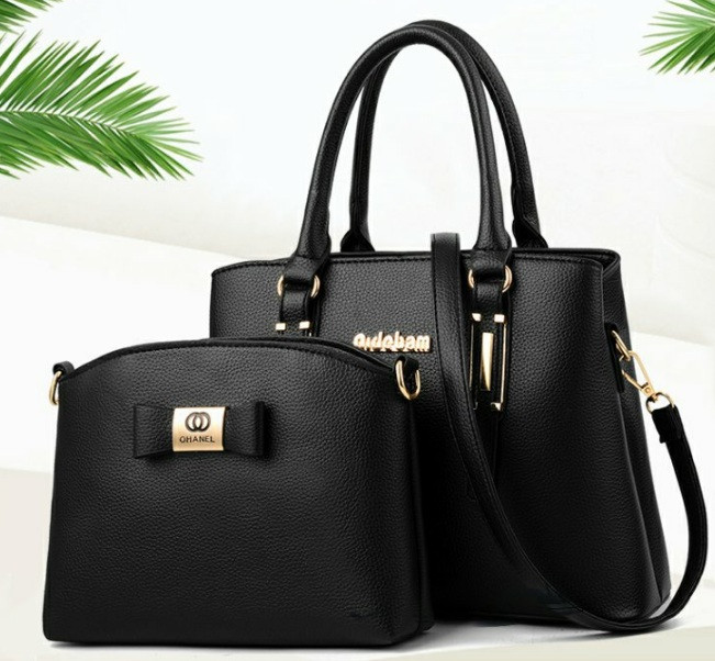 Набір жіноча сумка + міні сумочка клатч. Комплект 2 в 1 велика і маленька сумка на плече.