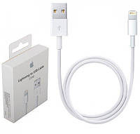Кабель USB Apple iPhone 6S, 7, 8 1m (MD818ZM, A) Белый Оригинал