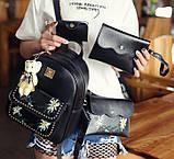 Жіночий рюкзак сумочка гаманець візитниця набір комплект рюкзачок сумка гаманець, фото 4