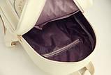 Жіночий рюкзак сумочка гаманець візитниця набір комплект рюкзачок сумка гаманець, фото 8