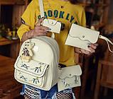 Жіночий рюкзак сумочка гаманець візитниця набір комплект рюкзачок сумка гаманець, фото 9