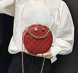 Круглая женская сумочка клатч, фото 3