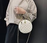 Круглая женская сумочка клатч, фото 5