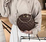 Круглая женская сумочка клатч, фото 8