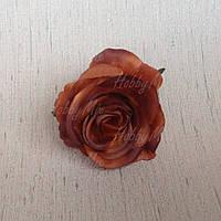 Головка розы мал. _кофейная, фото 1