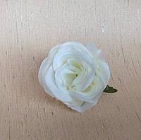 Головка розы 4см. _ БЕЛЫЙ сливочный, фото 1