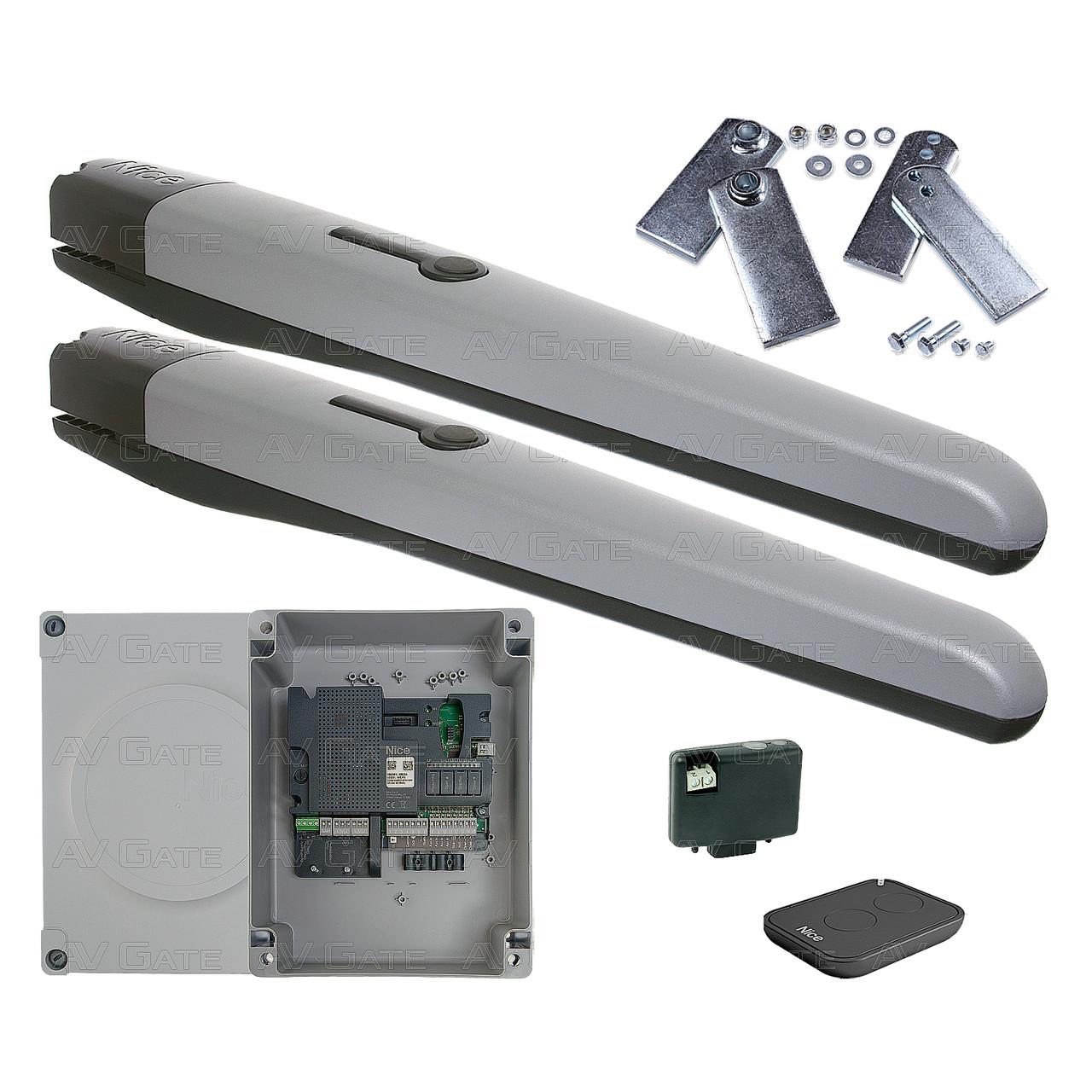 Комплект автоматики TOONA4016PKLT Nice для розпашних воріт (ширина до 6 м)
