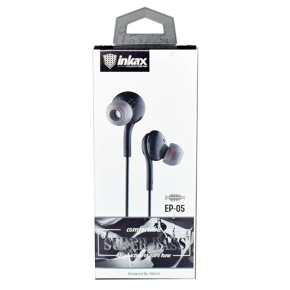 Наушники Inkax EP-05 Black - Проводные, Вакуумные, Цветная коробка