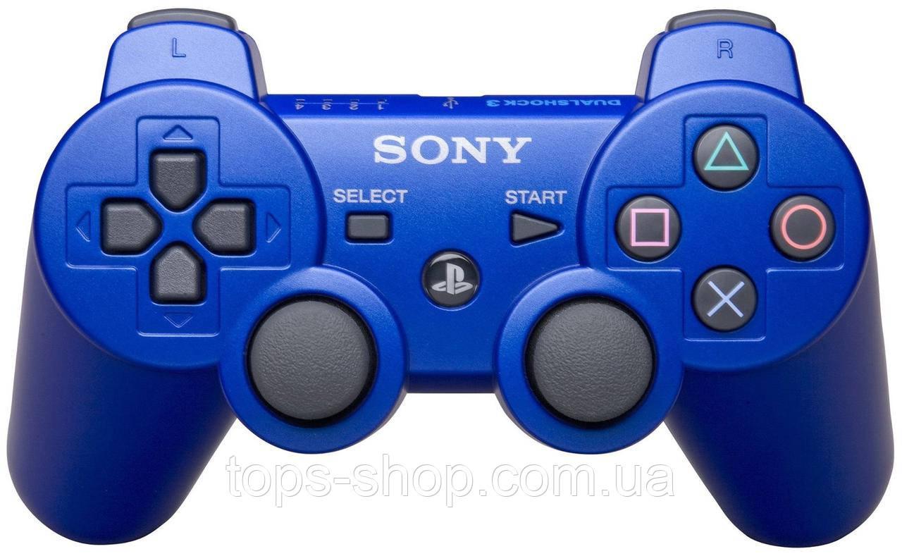 Джойстик контроллер геймпад для Sony PlayStation 3 DualShock Беспроводной ps3 bluetooth пс3 синий ( Реплика )
