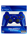Джойстик контроллер геймпад для Sony PlayStation 3 DualShock Беспроводной ps3 bluetooth пс3 синий ( Реплика ), фото 6