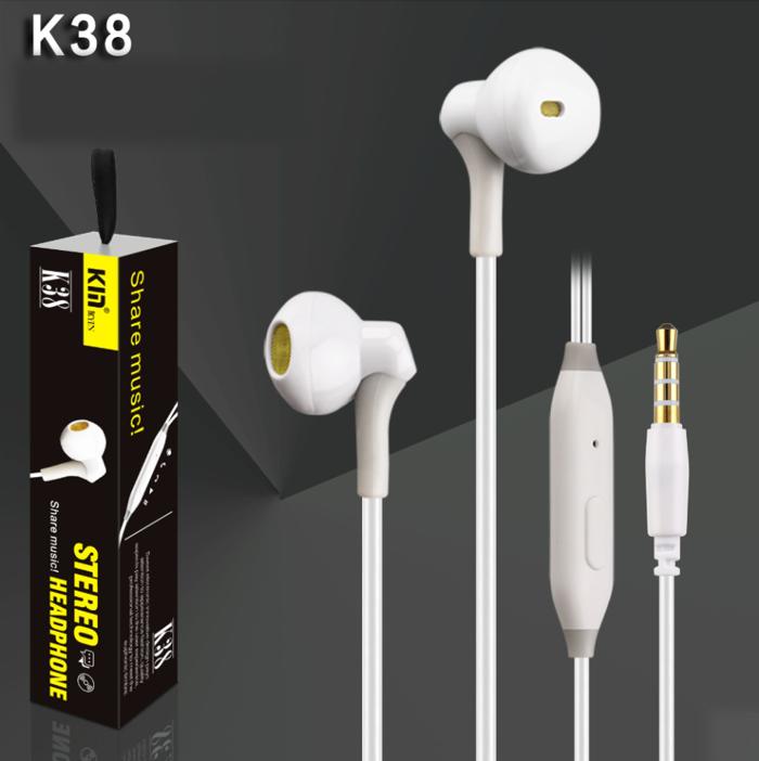 Наушники KIN K38 white - Проводные, Вкладыши, Цветная коробка