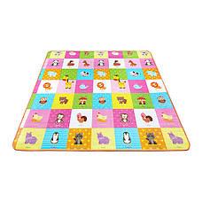 Развивающий детский коврик непромокающий двухсторонний 4FIZJO KIDS 180 x 180 x 1 см, фото 2