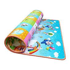 Развивающий детский коврик непромокающий двухсторонний 4FIZJO KIDS 180 x 180 x 1 см, фото 3